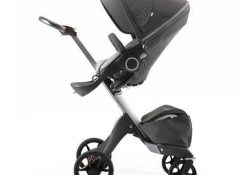 Stokke 2017 Stokke Xplory Basic In Silver Frame With Limited Edition Athleisure Grey Fabric