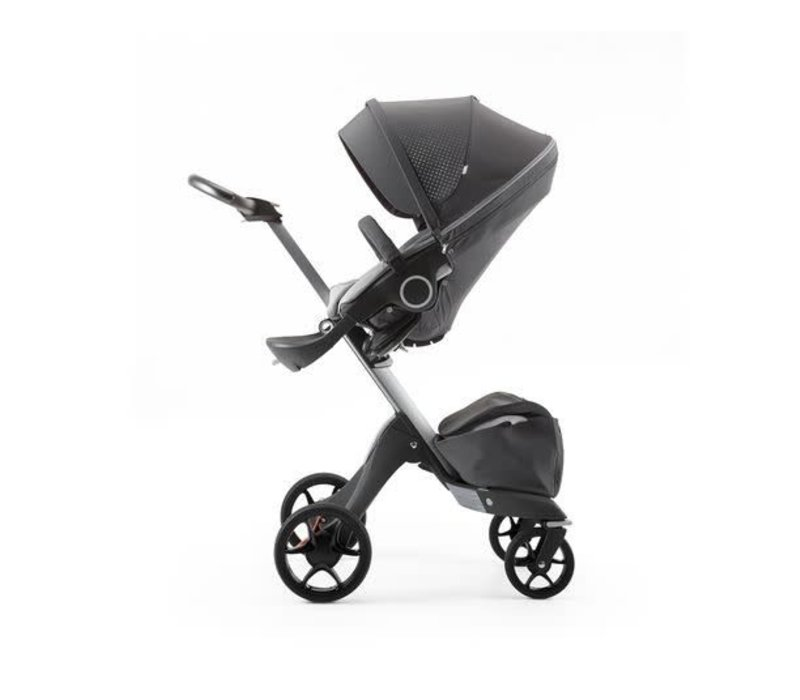 2017 Stokke Xplory Basic In Silver Frame With Limited Edition Athleisure Grey Fabric