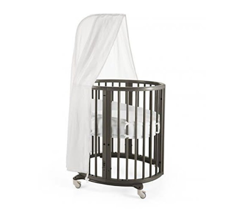 Stokke Sleepi Mini Bundle In Hazy Grey With Mattress Includes Drape Rod
