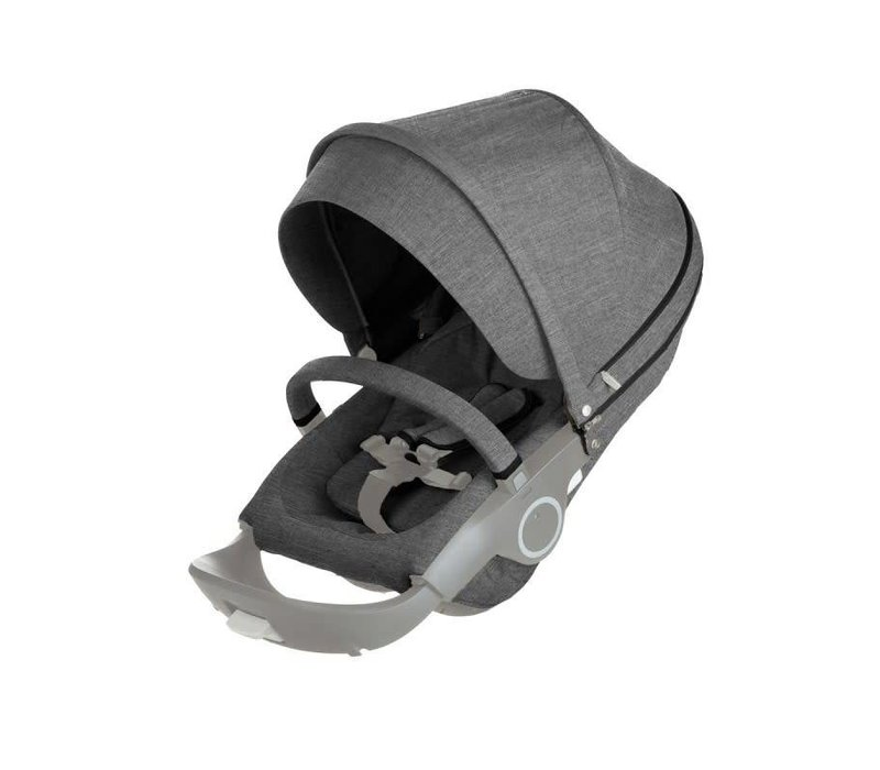Stokke Xplory Or Crusi Seat Complete In Black Melange- Seat With Style Kit Set
