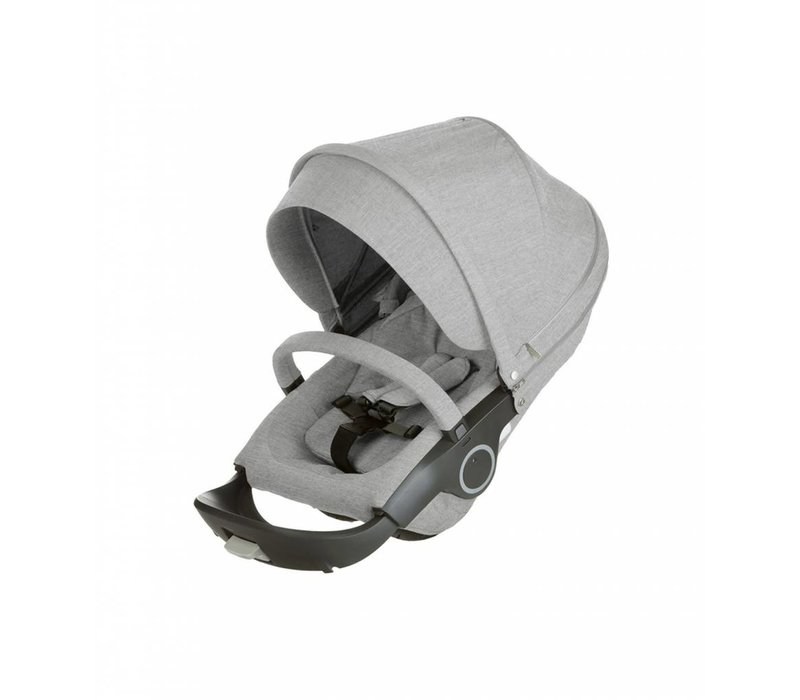 Stokke Xplory Or Crusi Seat Complete In Grey Melange Seat With Style Kit Set