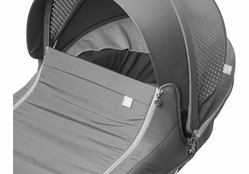 Stokke Stokke Xplory Carrycot In Black Frame-Athleisure Grey Fabric