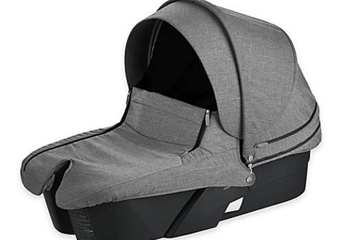 Stokke Stokke Xplory Carrycot In Black Frame-Black Melange Fabric