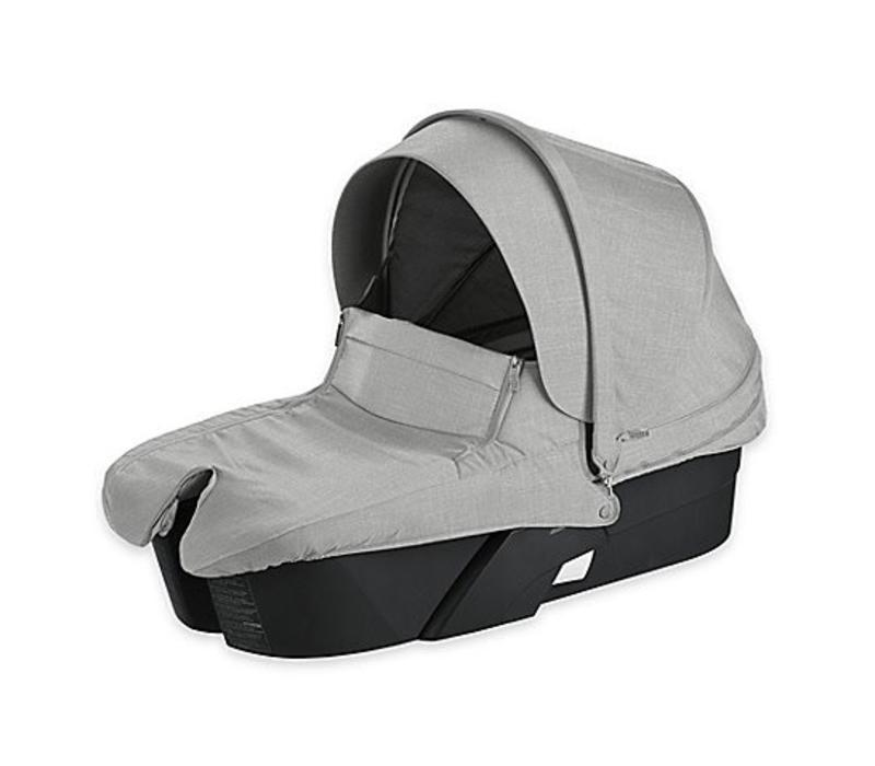 Stokke Xplory Carrycot In Black Frame-Grey Melange Fabric