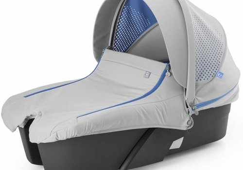 Stokke Stokke Xplory Carrycot In Silver Frame-Athleisure Marina Fabric
