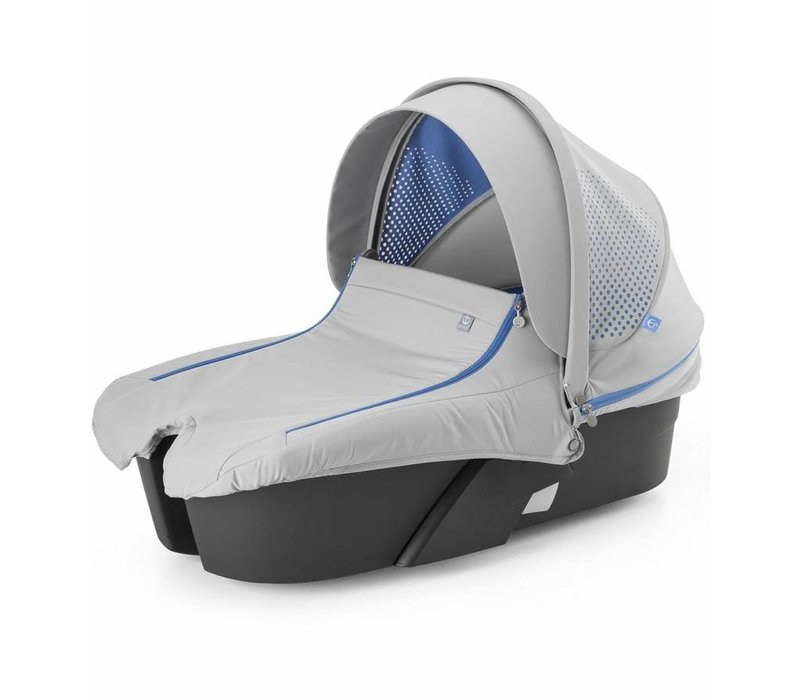 Stokke Xplory Carrycot In Silver Frame-Athleisure Marina Fabric