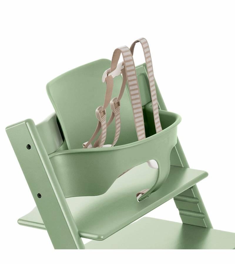 stokke stokke tripp trapp baby set in moss green. Black Bedroom Furniture Sets. Home Design Ideas