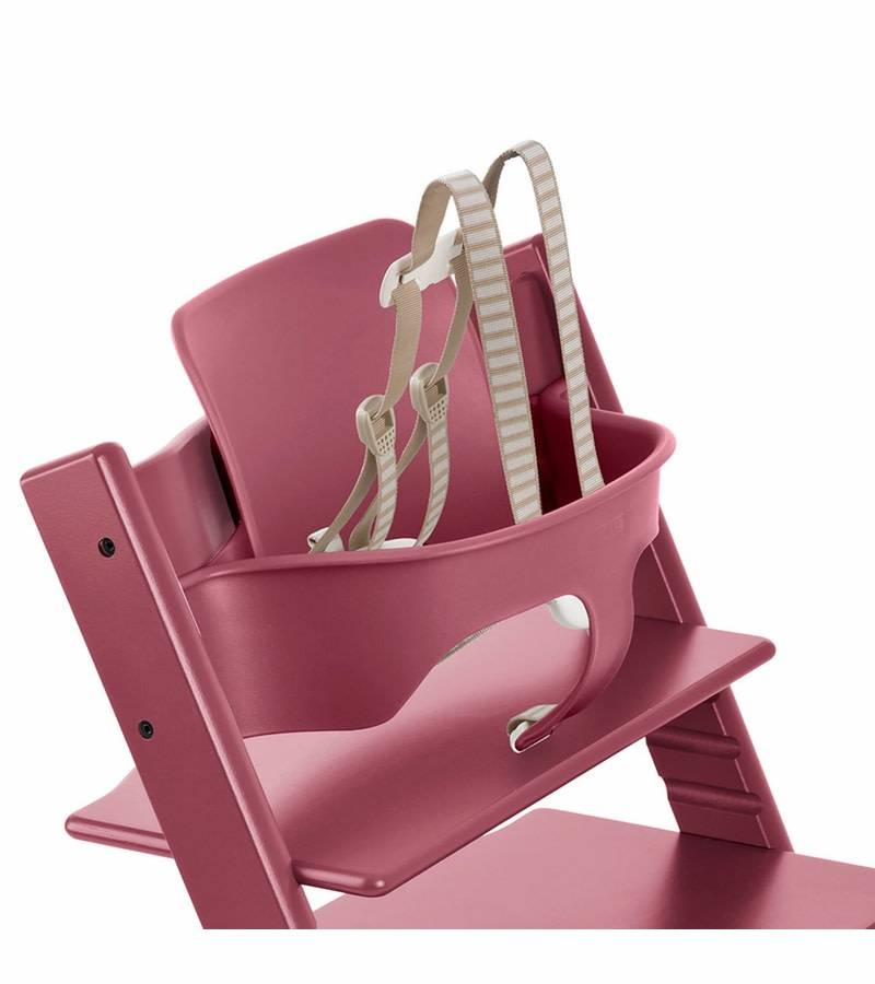 stokke stokke tripp trapp baby set in heather pink. Black Bedroom Furniture Sets. Home Design Ideas