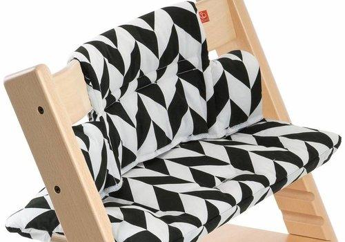 Stokke Stokke Tripp Trapp Cushions In Black Chevron (Coated)
