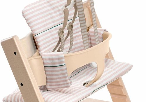 Stokke Stokke Tripp Trapp Cushions In Pink Stripes (Coated)