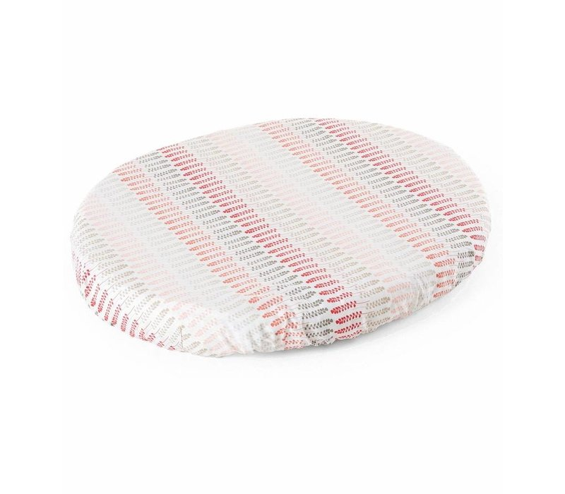Stokke Sleepi Mini (Bassinet) Fitted Sheet In Coral Straw