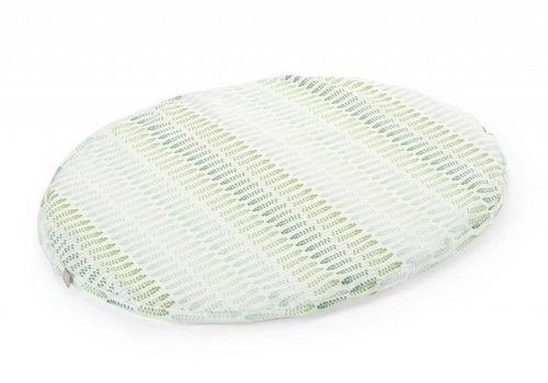 Stokke Stokke Sleepi Mini (Bassinet) Fitted Sheet In Aqua Straw