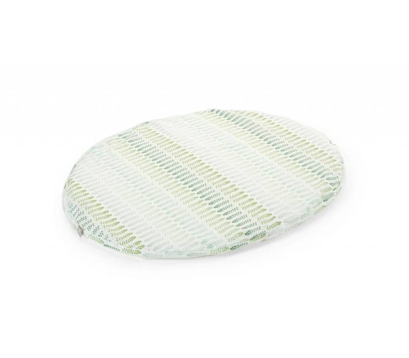 Stokke Sleepi Mini (Bassinet) Fitted Sheet In Aqua Straw