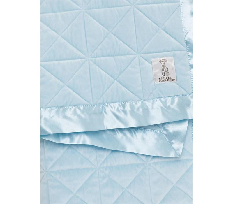 Little Giraffe Bliss Cross Quilt Blanket in Blue