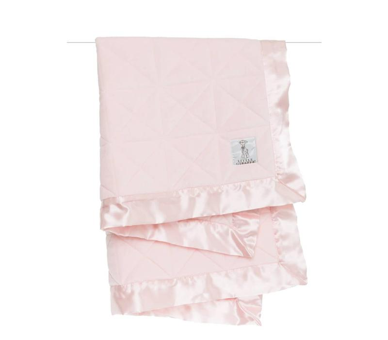 Little Giraffe Bliss Cross Quilt Blanket in Pink