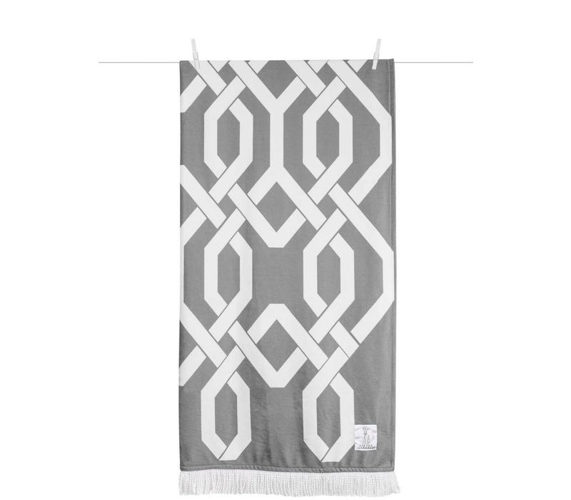 Little Giraffe Bliss Windowpane Throw in Charcoal