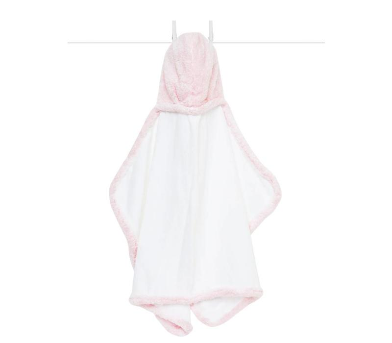 Little Giraffe Chenille Towel Hooded Towel In Pink