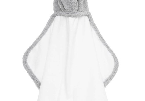 Little Giraffe Little Giraffe Chenille Towel Hooded Towel In Silver