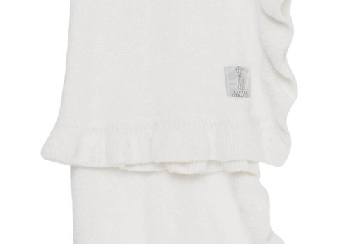Little Giraffe Little Giraffe Dolce Ruffle Blanket in White