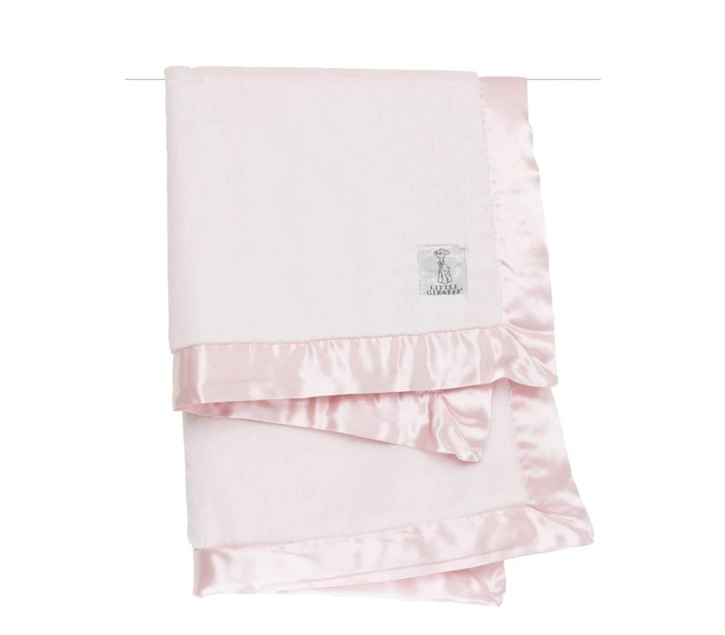 Little Giraffe Luxe Blanket In Pink