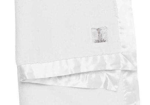 Little Giraffe Little Giraffe Chenille Luxe Blanket In White