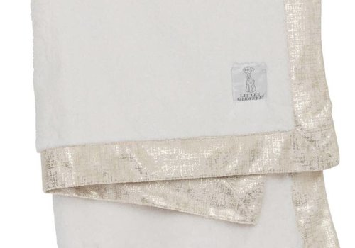 Little Giraffe Little Giraffe Luxe Lustre Rain Chamois Blanket  in Cream