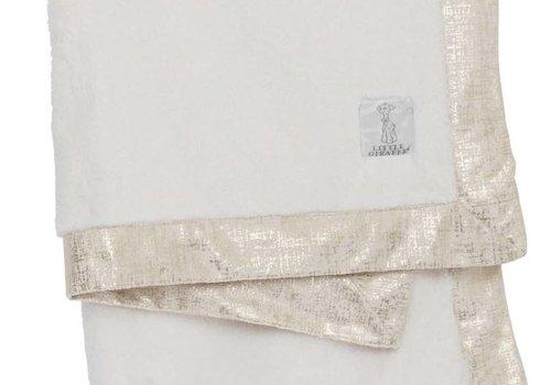 Little Giraffe Little Giraffe Luxe Lustre Rain Chamois Blanket  in Cream