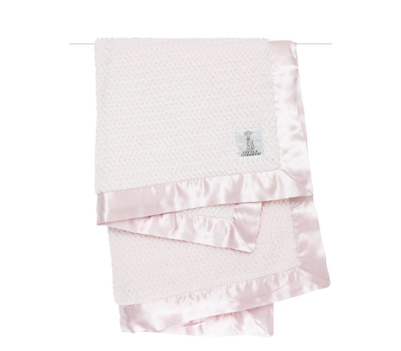 Little Giraffe Luxe Twist Blanket In Pink
