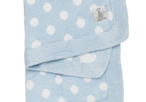 Little Giraffe Little Giraffe Dolce Dot Blanket In Blue