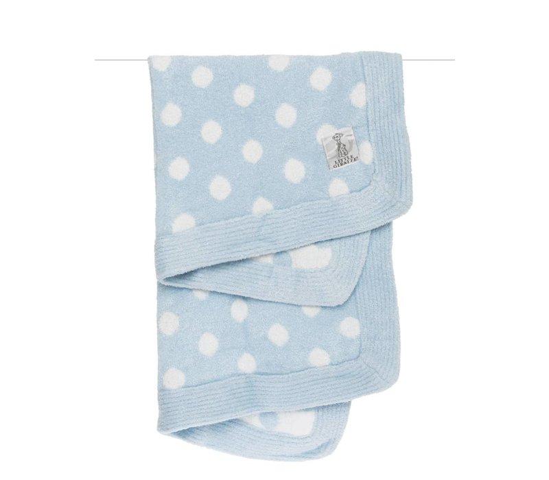 Little Giraffe Dolce Dot Blanket In Blue