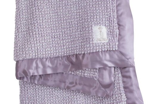Little Giraffe Little Giraffe Luxe Herringbone Blanket In Lavendar