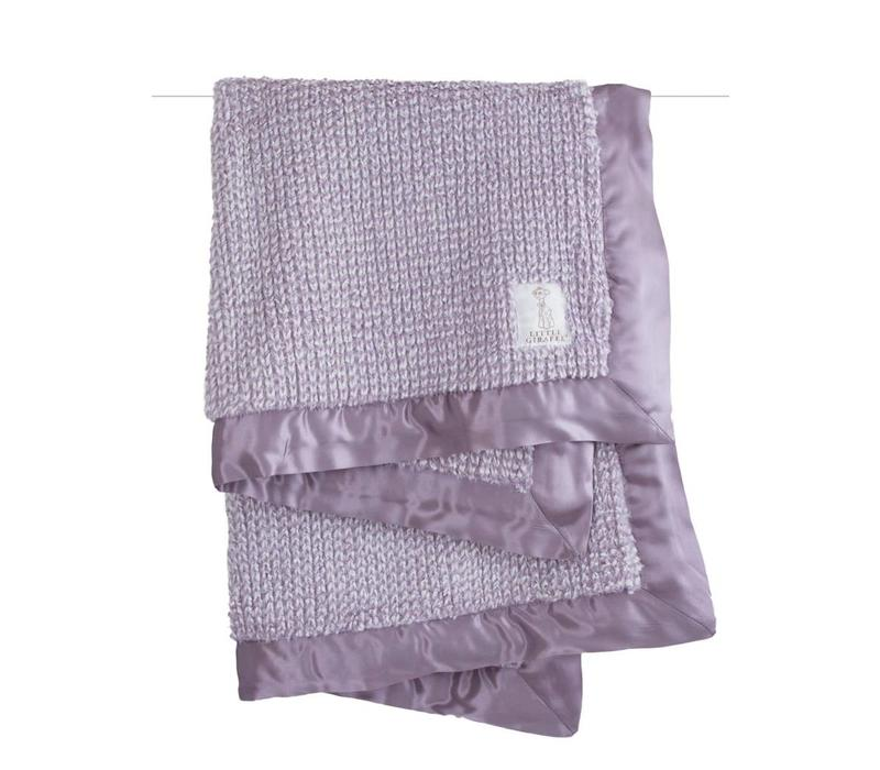 Little Giraffe Luxe Herringbone Blanket In Lavendar