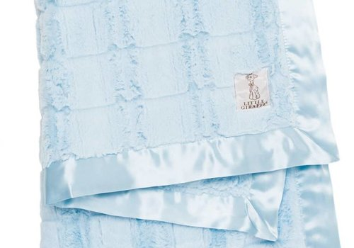 Little Giraffe Little Giraffe Luxe Waterfall Blanket In Blue