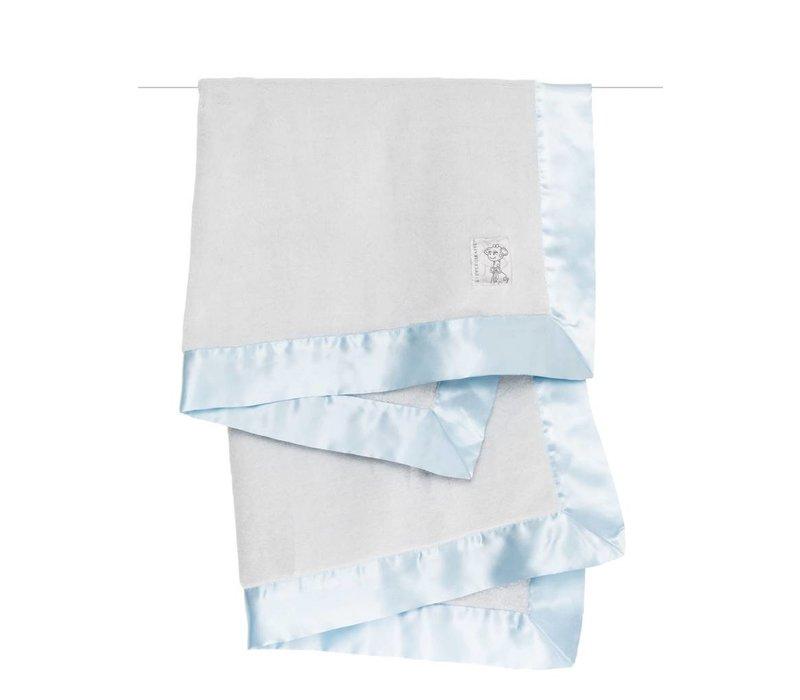 Little Giraffe Powder Plush Blanket In Blue