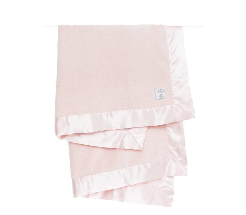 Little Giraffe Powder Plush Blanket In Pink