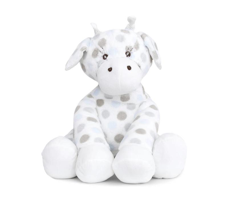 Little Giraffe Luxe Dot Plush Big Giraffe In Blue