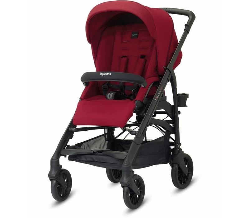 2017 Inglesina Trilogy City Stroller In Intense Red With Rain Cover