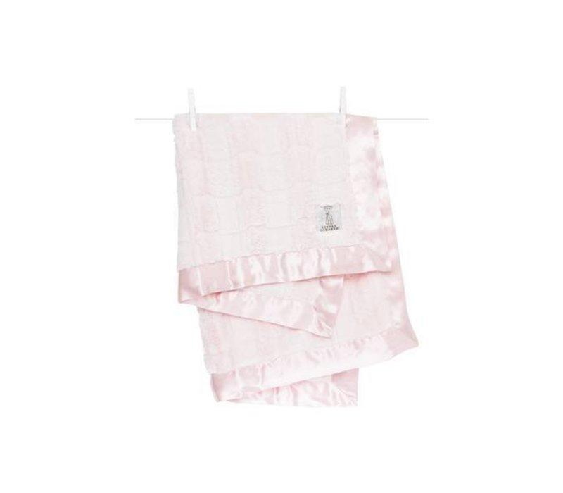 Little Giraffe Luxe Waterfall Blanket In Pink