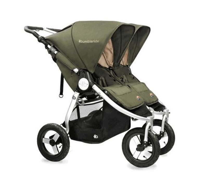 2017 Bumbleride Indie Twin Stroller In Camp Green