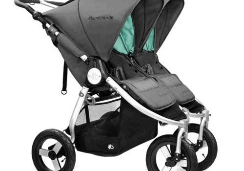 Bumbleride 2017 Bumbleride Indie Twin Stroller In Dawn Grey