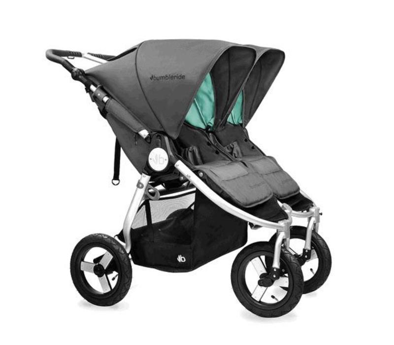 2017 Bumbleride Indie Twin Stroller In Dawn Grey