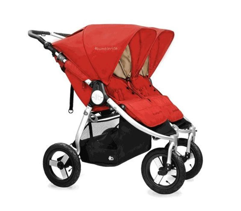 2017 Bumbleride Indie Twin Stroller In Red Sand