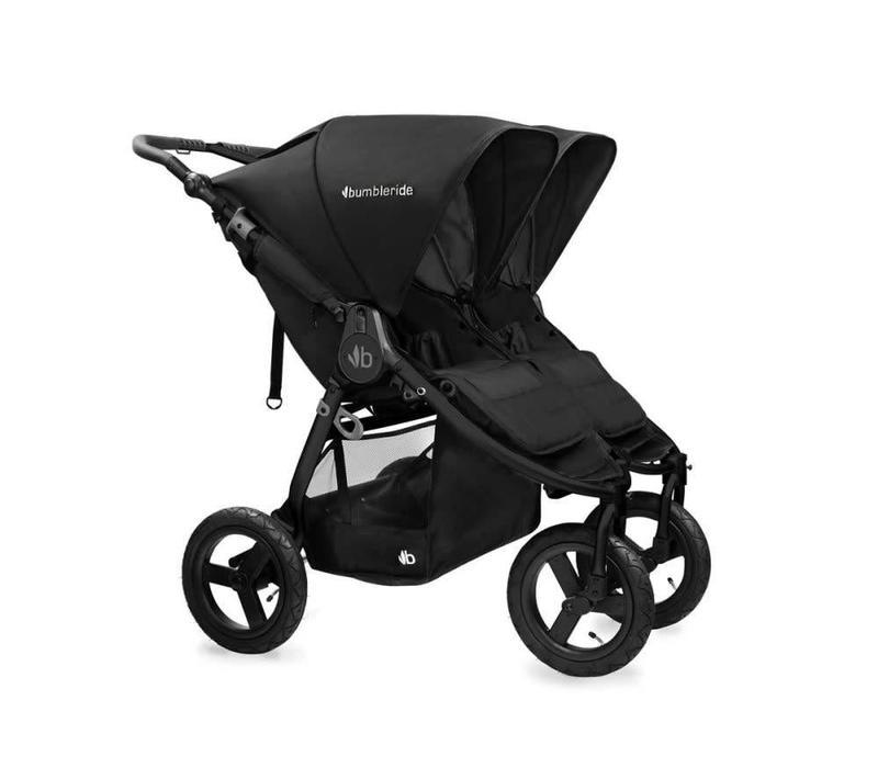 2017 Bumbleride Indie Twin Stroller In Matte Black