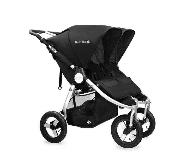2017 Bumbleride Indie Twin Stroller In Silver Black