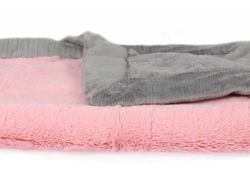 Saranoni Saranoni Receiving Blanket In Pink Lush/Gray Lush Medium 30'' x 40''
