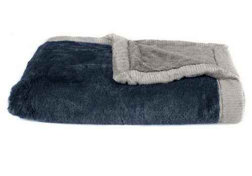 "Saranoni Saranoni Blanket In Navy/Gray Toddler to Teen  Large 40"" x 60"""