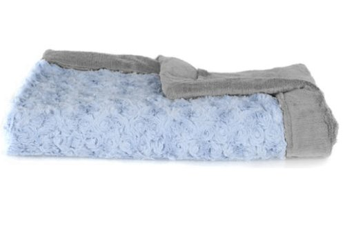 "Saranoni Saranoni Blanket In Light Blue Swirl/Gray Lush Large 40"" x 60"""