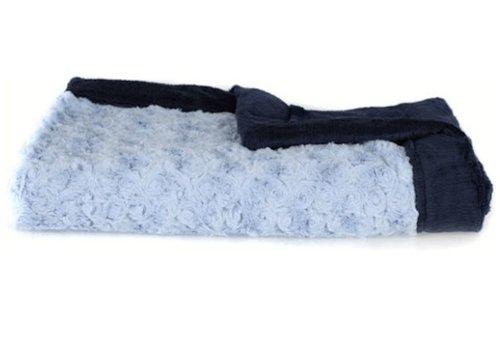 "Saranoni Saranoni Receiving Blanket In Light Blue/Navy Lush Medium 30"" x 40"""