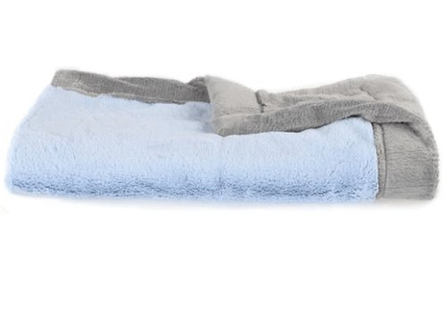 "Saranoni Saranoni Receiving Blanket In Light Blue Lush/Gray Lush Medium 30"" x 40"""