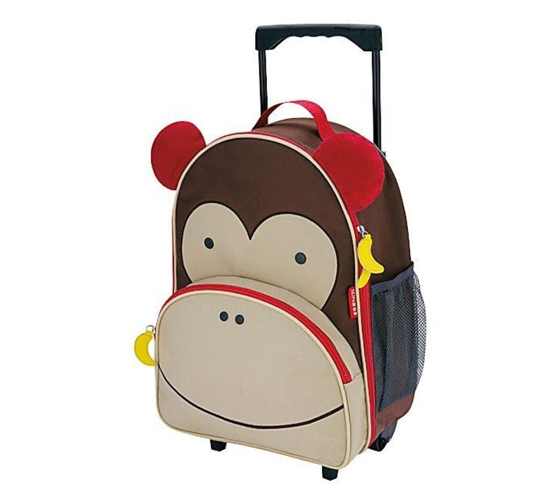 Skip Hop Rolling Luggage in Monkey
